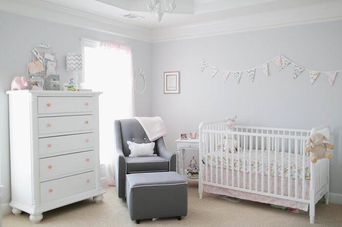 Окрашенные стены в детской комнате