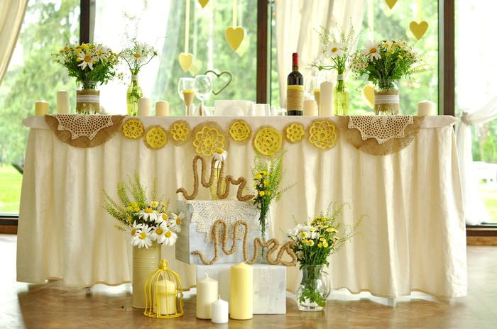 Оформление свадебного стола в ретро стиле