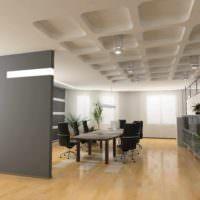 пример применения перегородки в дизайне комнаты фото