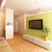 идея использования перегородки в интерьере комнаты картинка