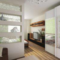 вариант применения перегородки в дизайне дома фото