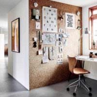 идея применения пробки в интерьере комнаты картинка