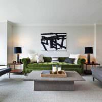 пример яркого стиля гостиной 20 метров фото