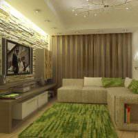 пример красивого стиля гостиной 20 метров фото