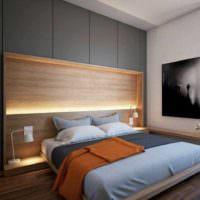 пример яркого стиля изголовья кровати фото
