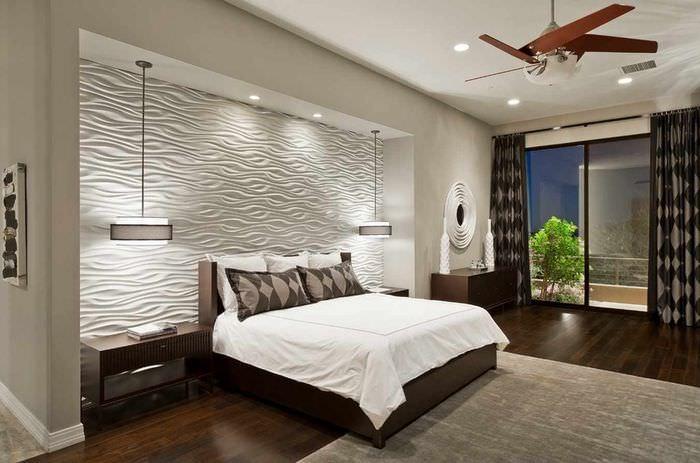 вариант светлого стиля изголовья кровати