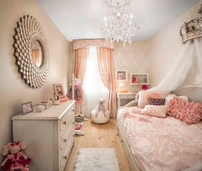 пример красивого дизайна детской комнаты для девочки