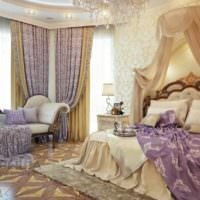 вариант светлого стиля спальни фото