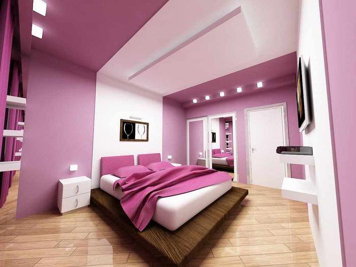 вариант светлого дизайна спальной комнаты