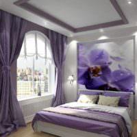 вариант необычного интерьера спальной комнаты фото