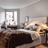 вариант яркого украшения дизайна стен в спальне картинка