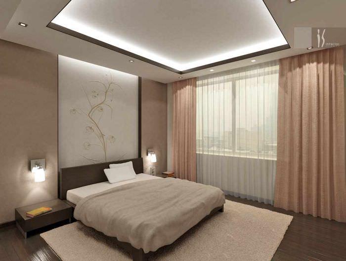 пример красивого проекта стиля спальни
