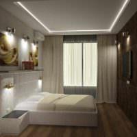 вариант яркого проекта стиля спальной комнаты фото