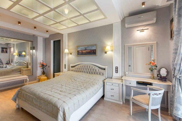 вариант красивого проекта дизайна спальной комнаты