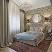 пример яркого проекта интерьера спальни картинка