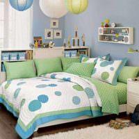 пример красивого интерьера спальни для девочки фото