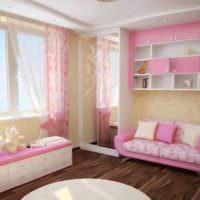 вариант необычного дизайна детской комнаты для девочки фото