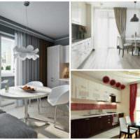 пример светлого стиля окна на кухне фото