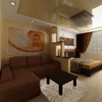 пример светлого стиля спальни 20 метров фото