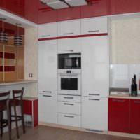 вариант красивого интерьера потолка кухни картинка