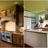пример светлого дизайна потолка на кухне фото