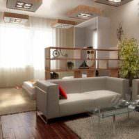 пример необычного интерьера спальни 20 метров фото