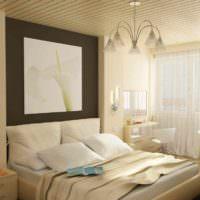 вариант яркого проекта стиля спальни картинка