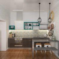 пример необычного проекта стиля кухни фото