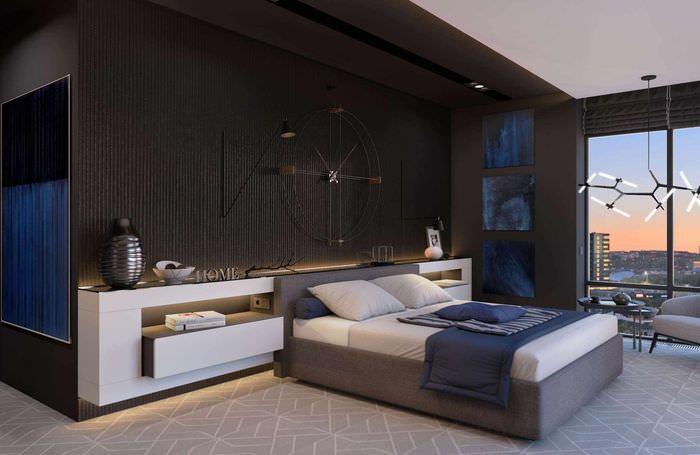 пример яркого проекта дизайна спальни