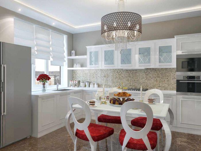 пример красивого проекта дизайна кухни