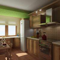 вариант яркого проекта дизайна кухни картинка