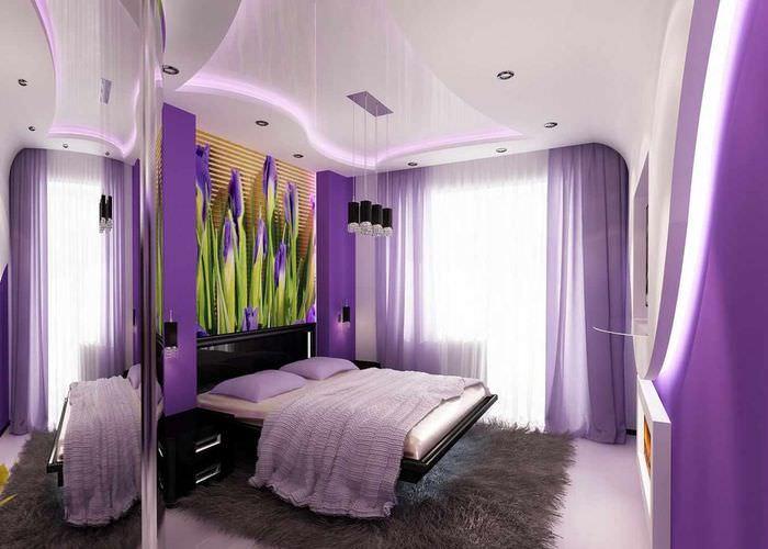 пример светлого стиля спальной комнаты