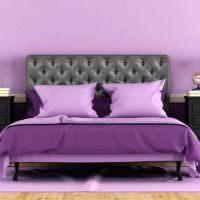 вариант яркого дизайна спальни фото