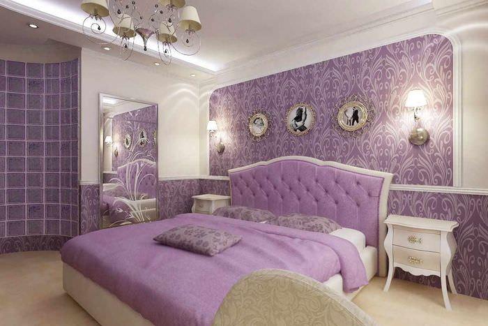 вариант необычного стиля спальни