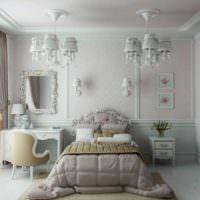 идея необычного оформления дизайна стен в спальне картинка