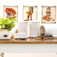 идея светлой поделки для декора кухни картинка
