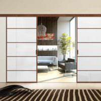 идея использования перегородки в интерьере квартиры картинка
