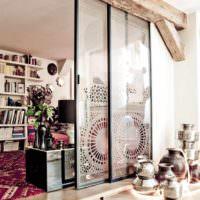 пример применения перегородки в декоре дома фото