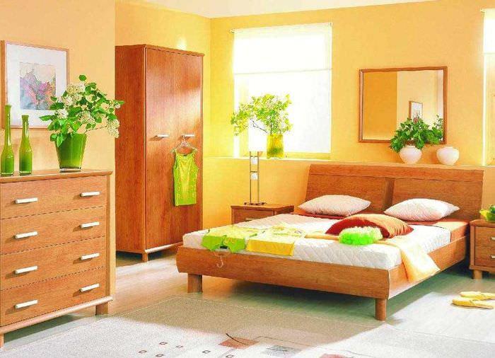 идея сочетания необычного персикового цвета в декоре квартиры