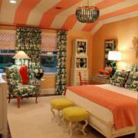 идея сочетания красивого персикового цвета в стиле квартиры картинка