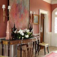 вариант сочетания красивого персикового цвета в интерьере квартиры фото