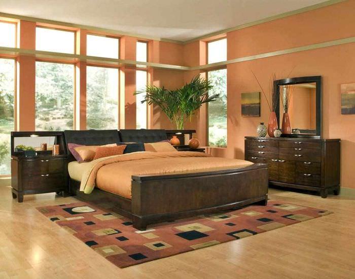 вариант сочетания светлого персикового цвета в декоре квартиры