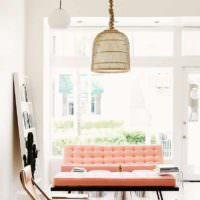 вариант сочетания красивого персикового цвета в дизайне квартиры картинка