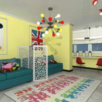 вариант яркого дизайна комнаты в стиле поп арт фото