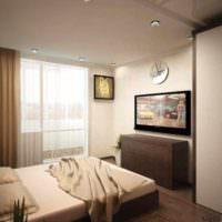 вариант яркого дизайна гостиной спальни 20 метров фото