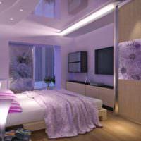 пример необычного дизайна спальни фото