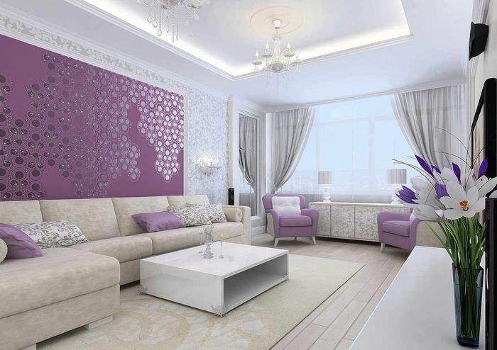 вариант красивого дизайна спальни