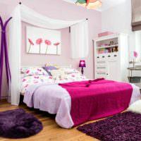 вариант красивого стиля детской комнаты для девочки фото