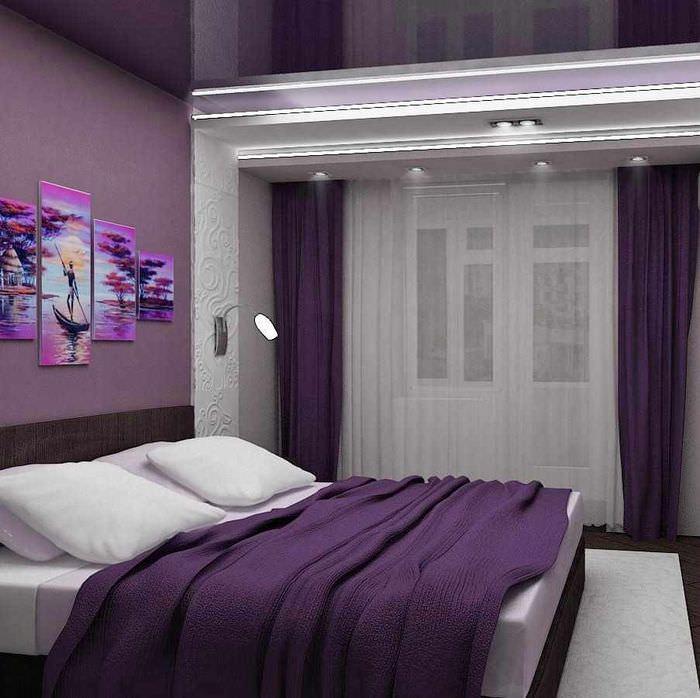 пример яркого интерьера спальной комнаты