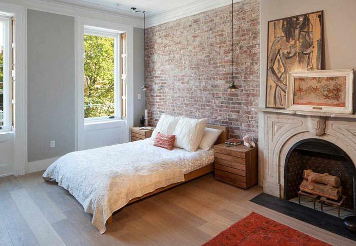 идея красивого оформления дизайна стен в спальне